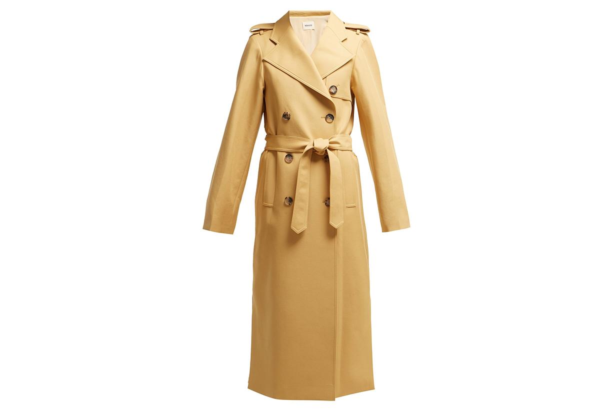 Felice Cotton-Twill Trench Coat