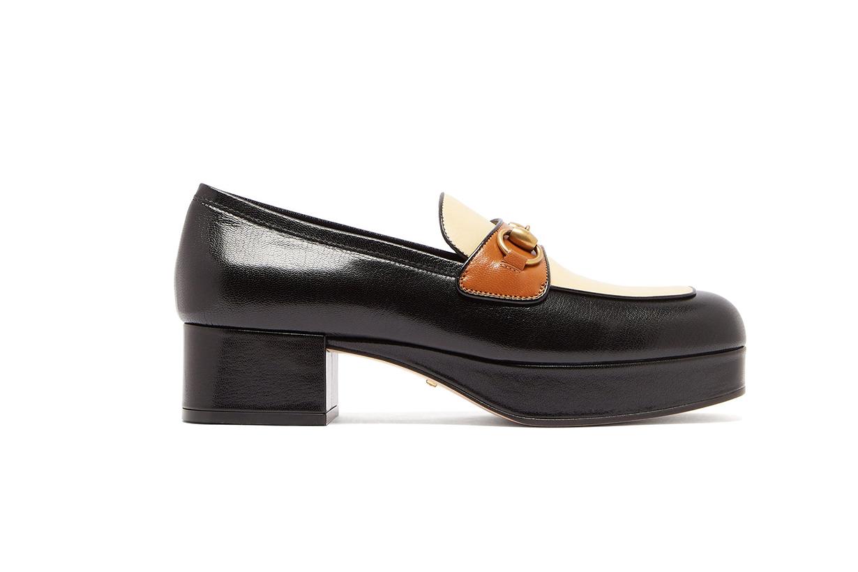 Horsebit Leather Platform Loafers