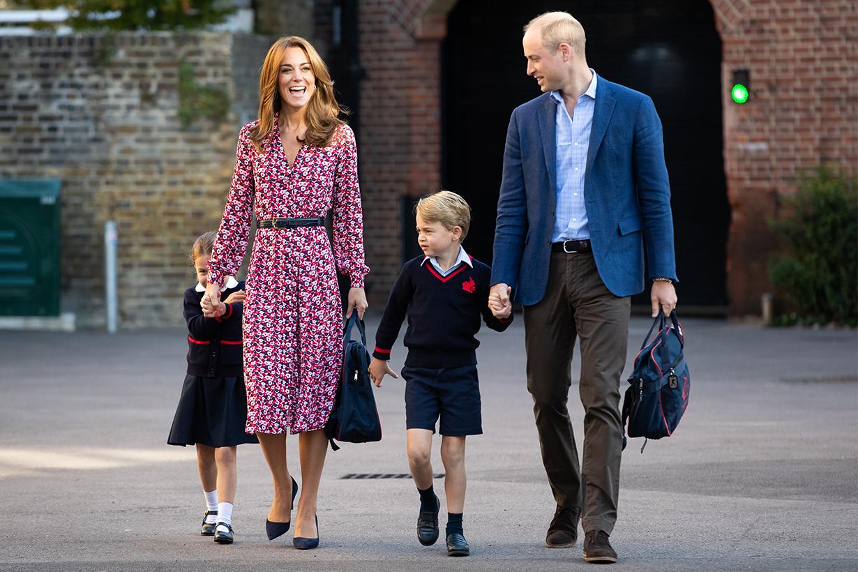 Princess Charlotte First Day At School Royal Family