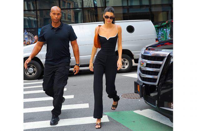 kendall jenner street snap skinny body waist jumpsuit