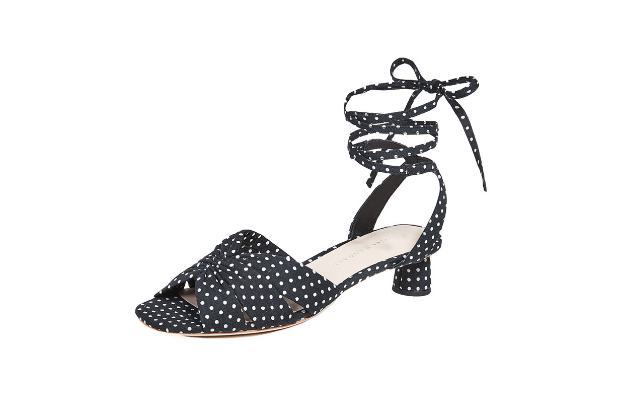 Leia Ankle Wrap Low Sandals