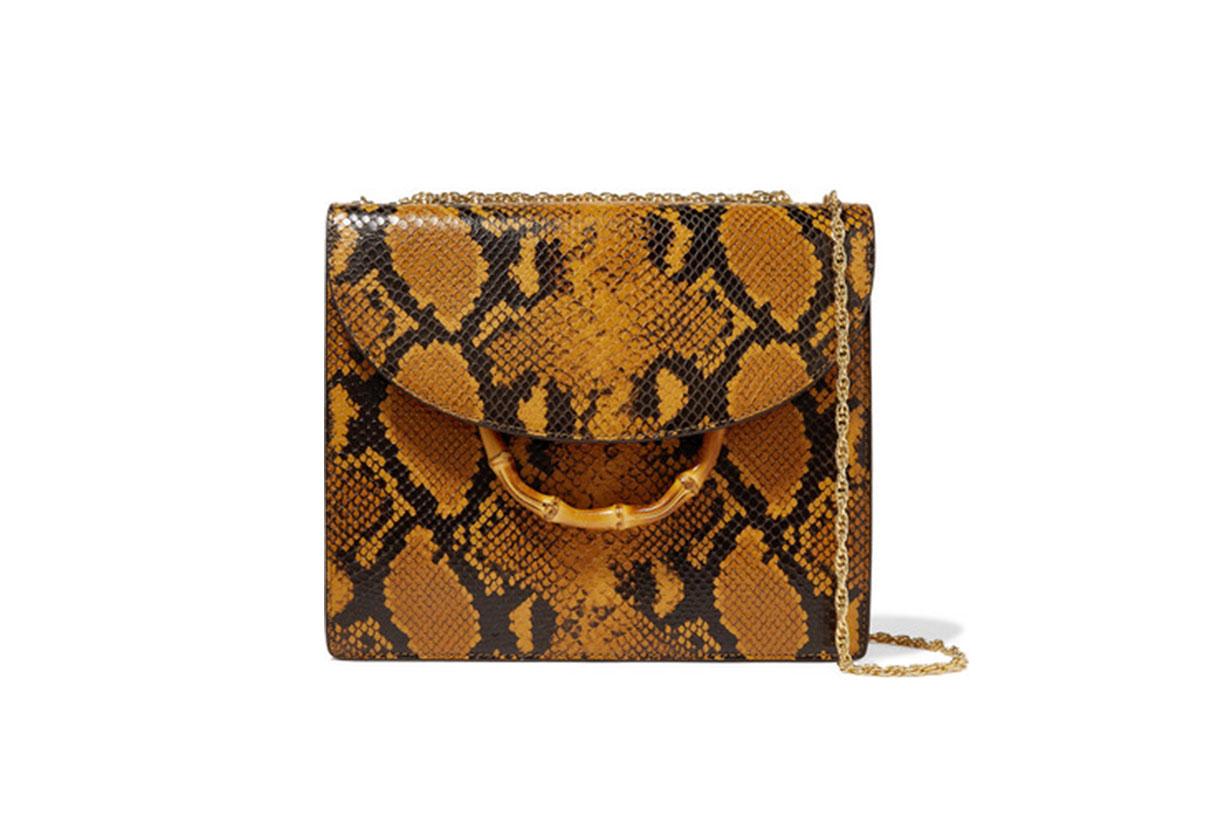 Marla Snake-Effect Leather Shoulder Bag