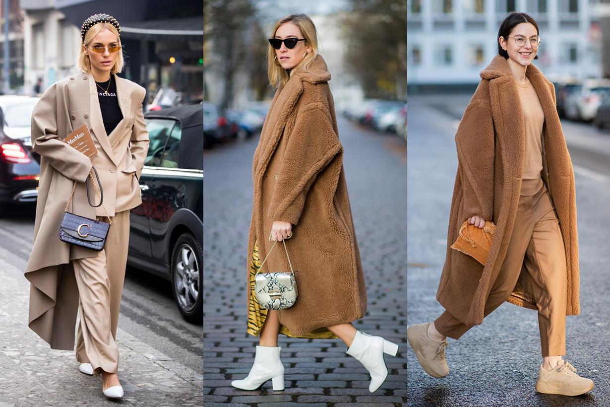 Max Mara Teddy Coat Street Style