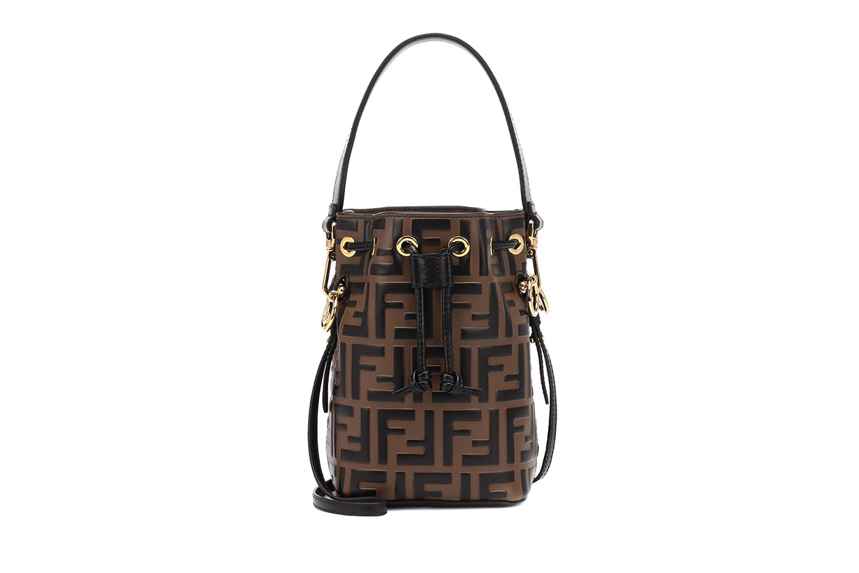 Mon Tresor Mini Leather Bucket Bag