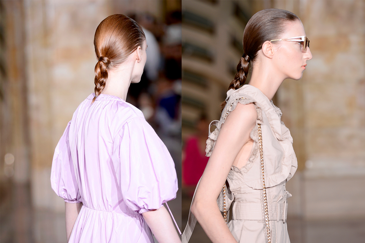 New York Fashion Week NYFW Self-Portrait braid hairstyles trend 2020 Spring Summer 2020 SS20