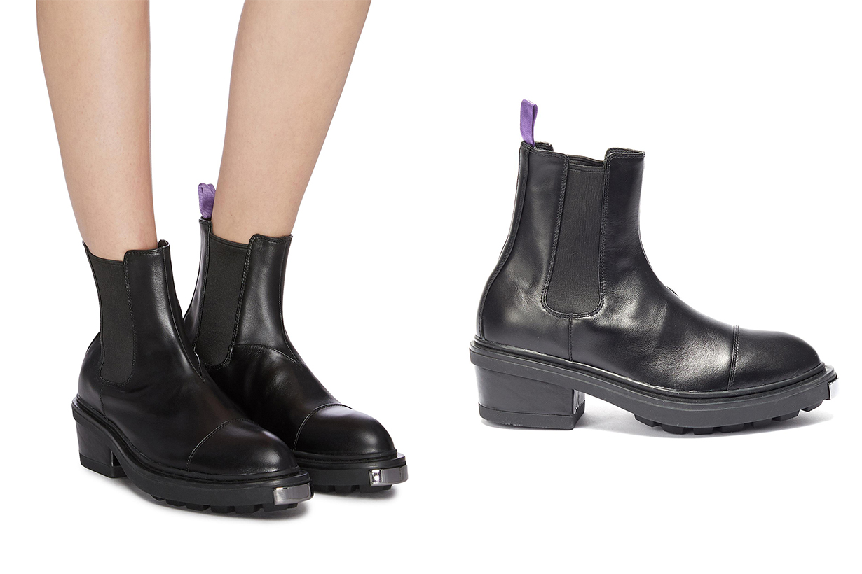 Nikita Metallic Bumper Leather Chelsea Boots
