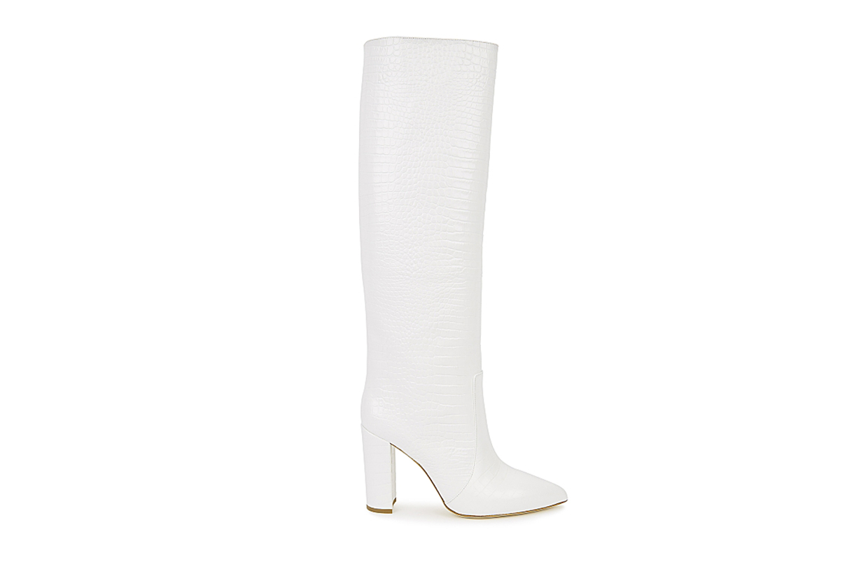 PARIS TEXAS 100 crocodile-effect knee-high boots