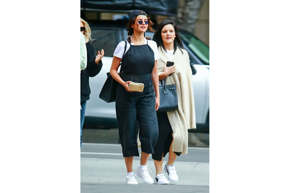 Selena Gomez Wearing Puma Sneakers