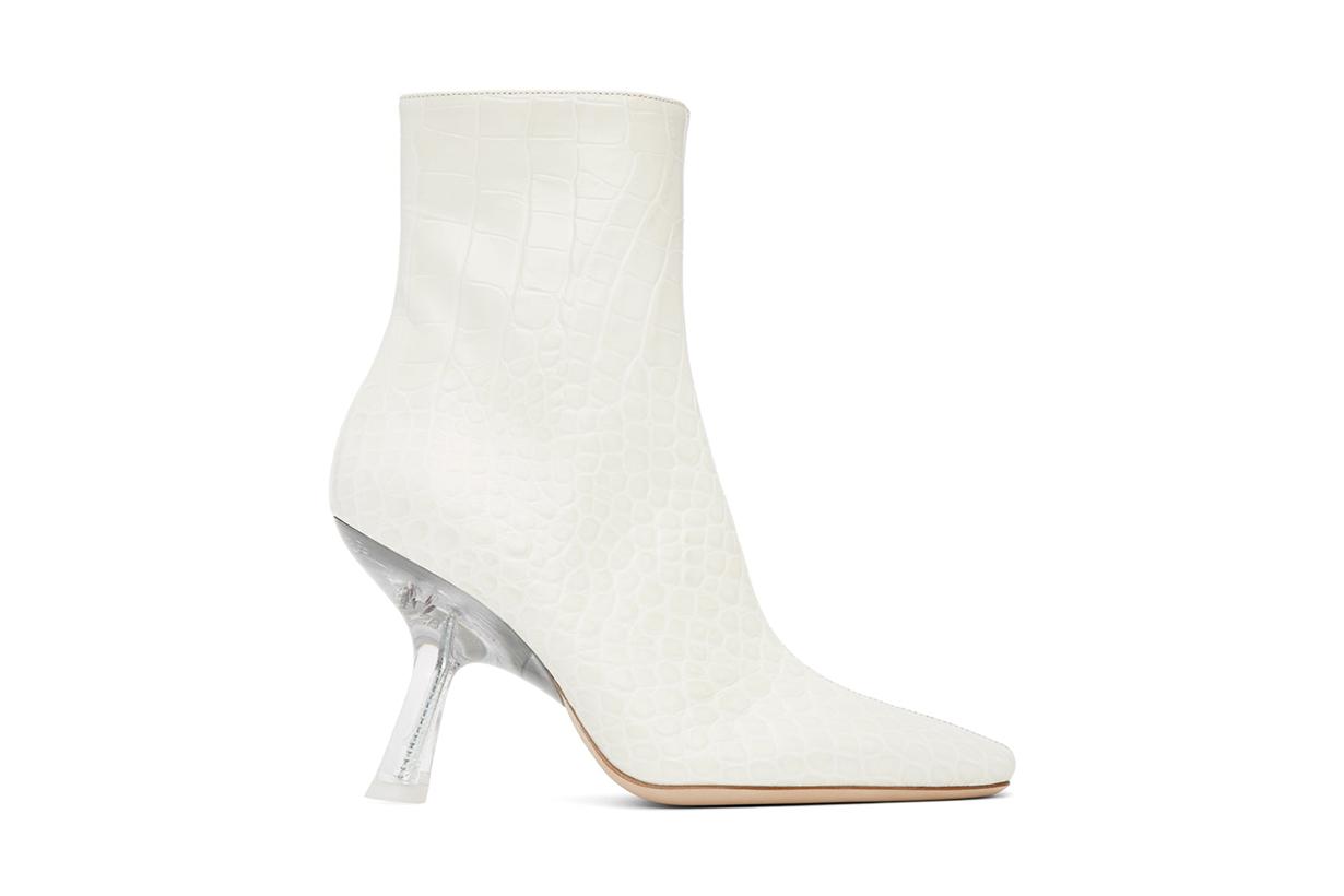 SIMON MILLER White Croc Foxy Boots