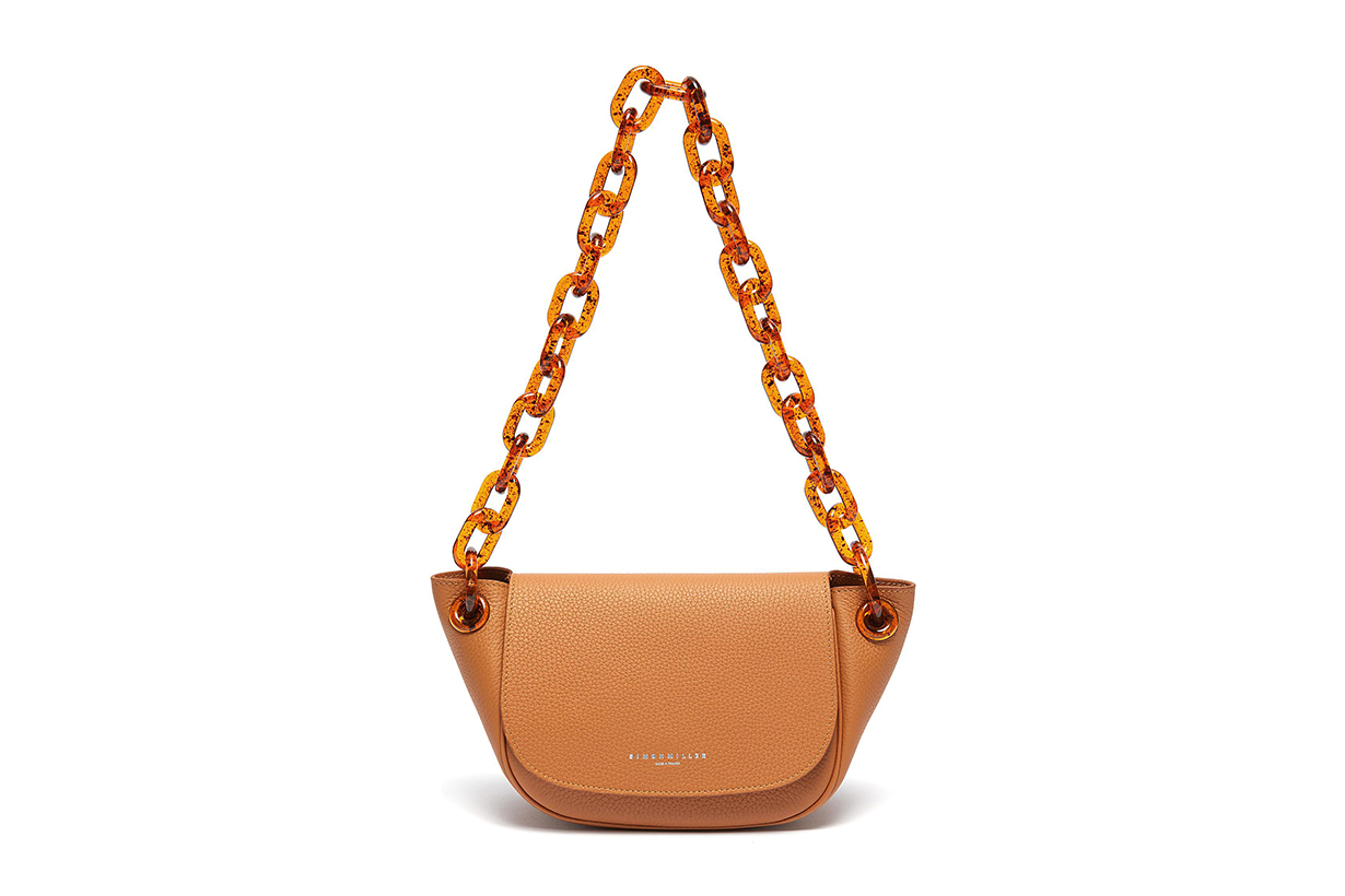 Simon Miller Bend Chunky Chain Leather Shoulder Bag