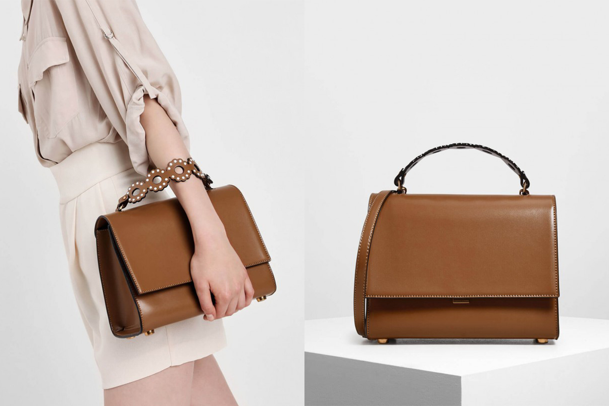 Structured Front Flap Bag