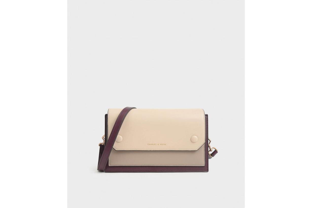 Two-Tone Mini Clutch Bag