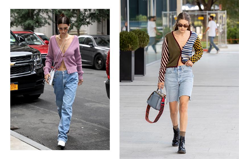 Bella Gigi Hidid Jennie cardigan Street Snap Style