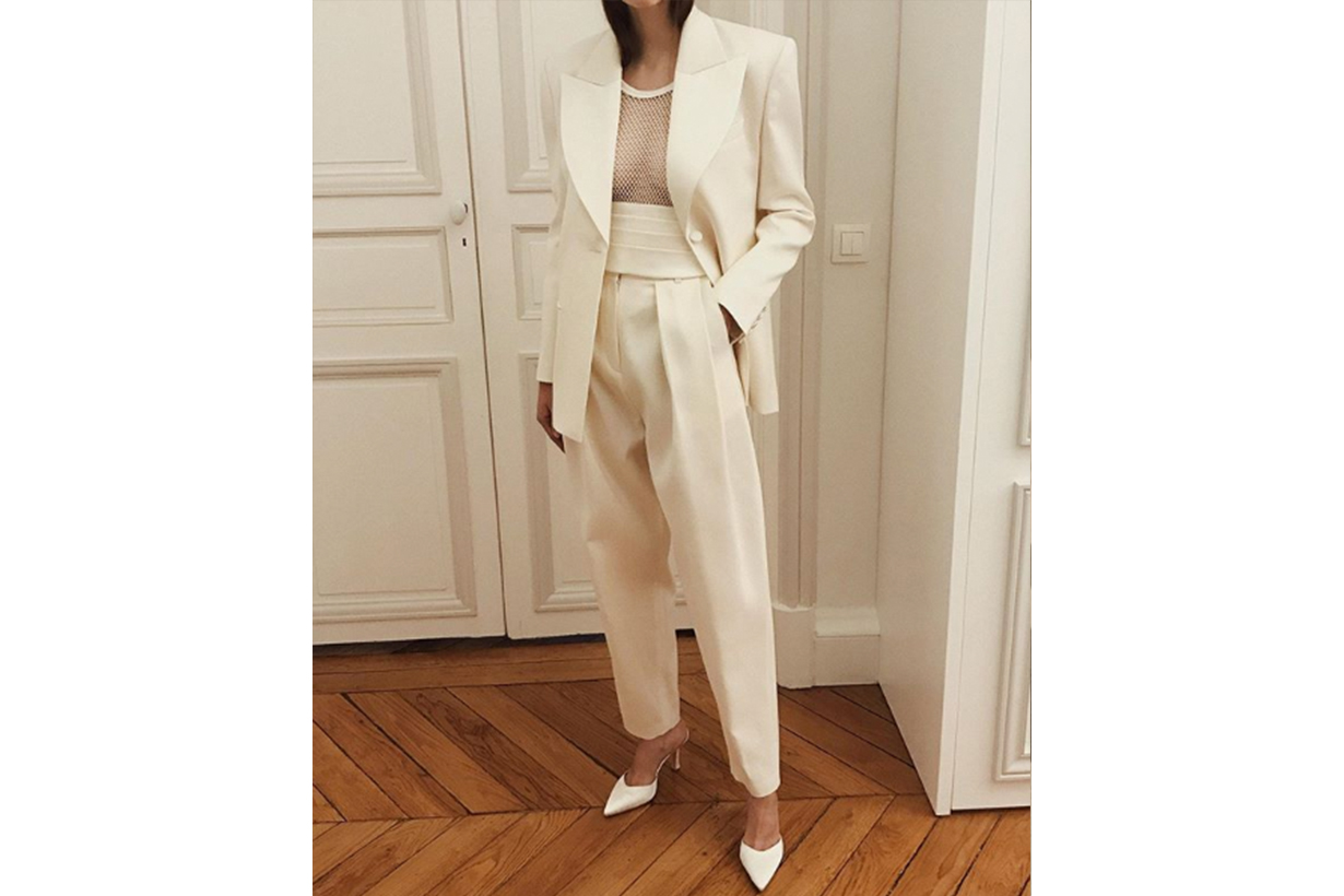White Suit blazer and trousers Fashion Style