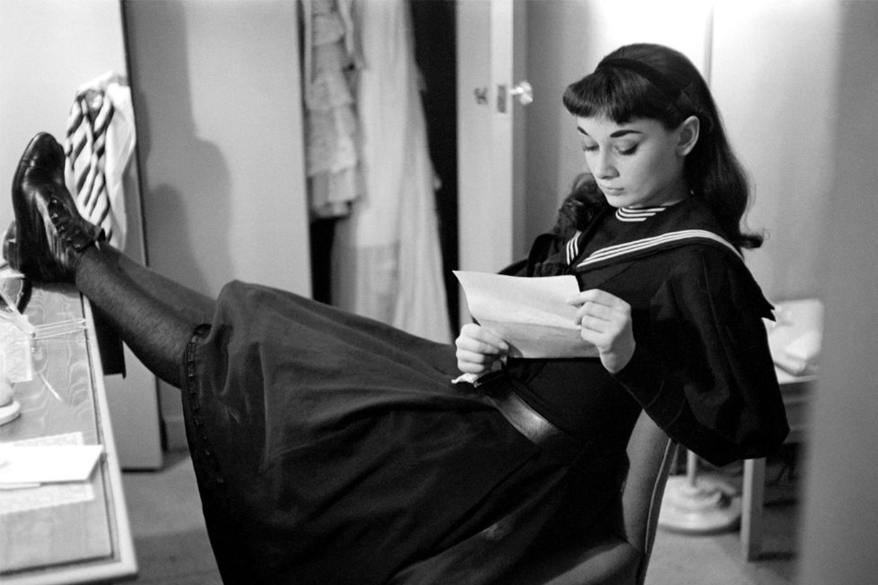Audrey Hepburn At Backstage