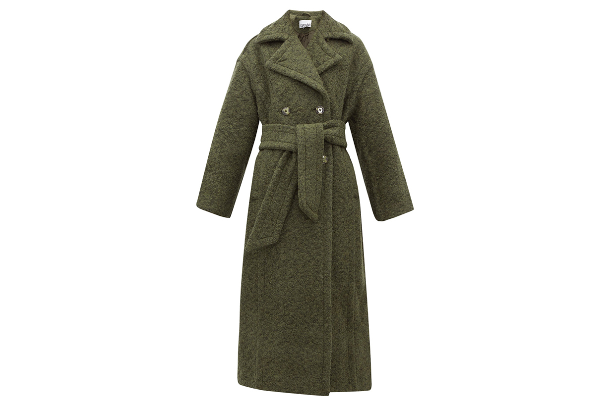 Belted Double-Breasted Wool-Blend Coat