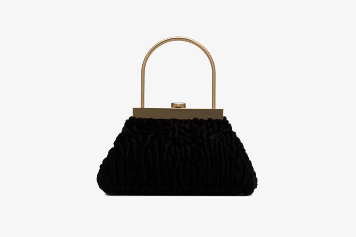 Black Estelle Mini Shearling Handbag