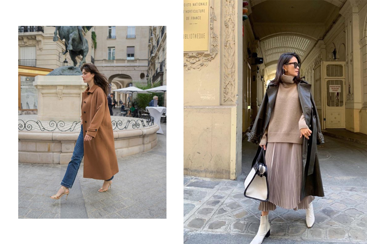 Brown Camel Coat Trench Coat Street Style