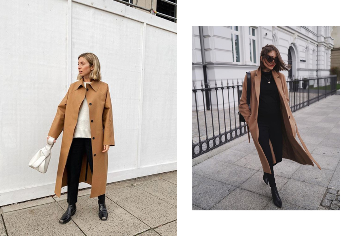 Brown Camel Coat Street Style