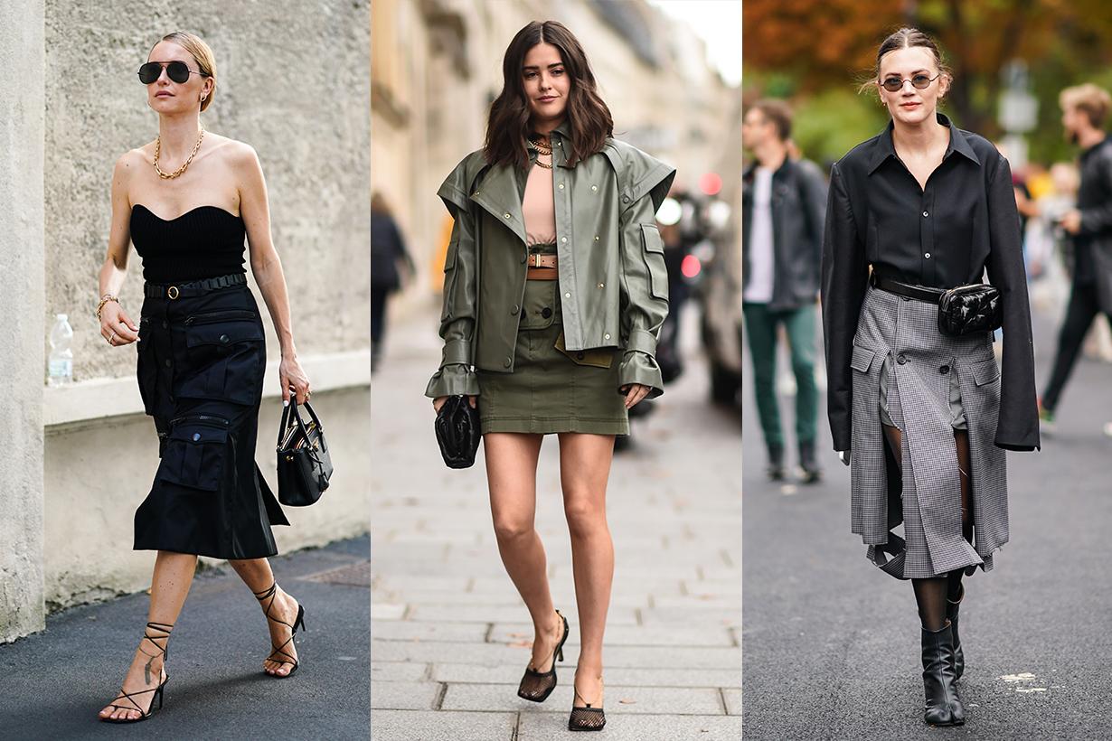 Boyish Skirt Style 2020 Fashion Week Street Style