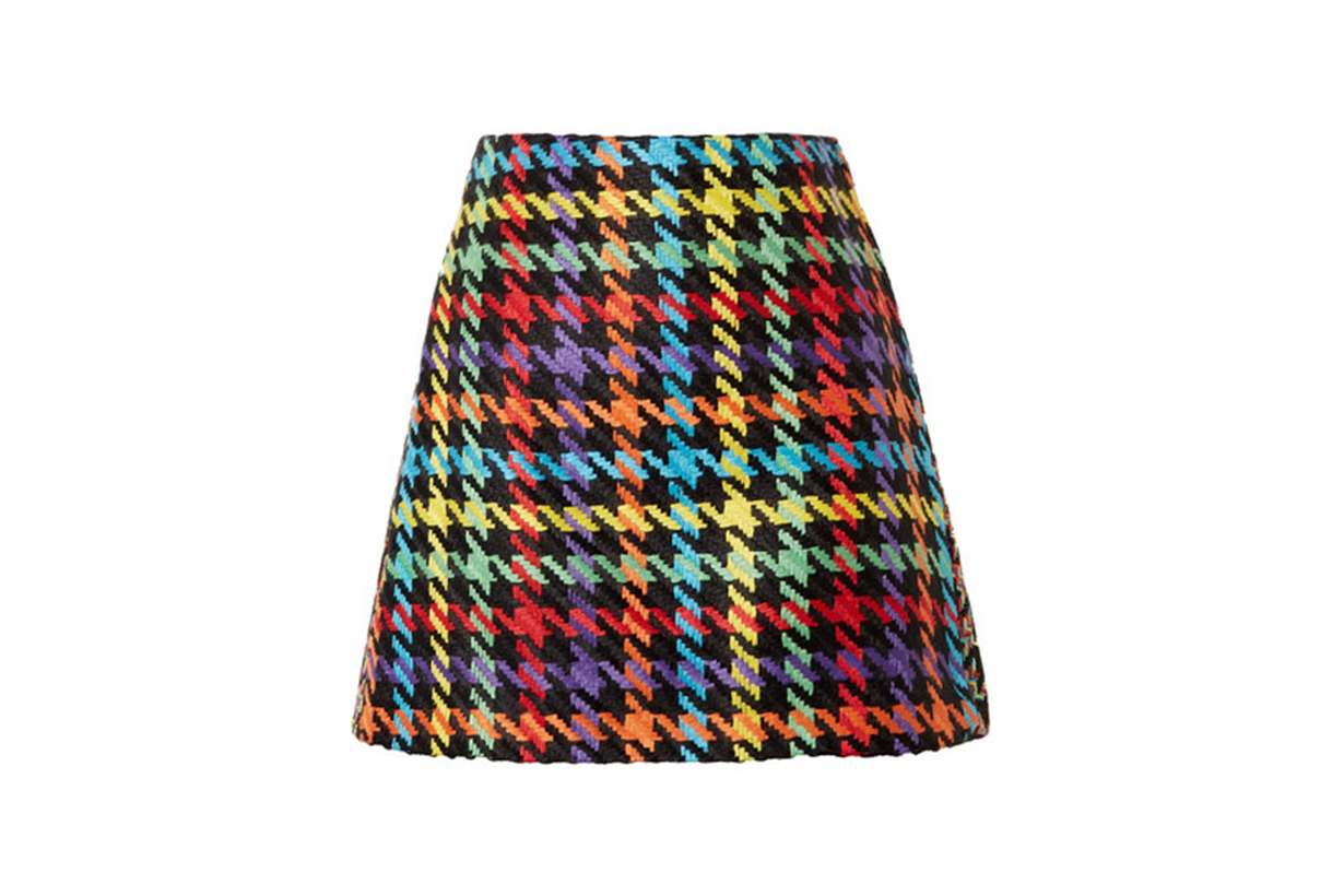 Darma Houndstooth Tweed Mini Skirt