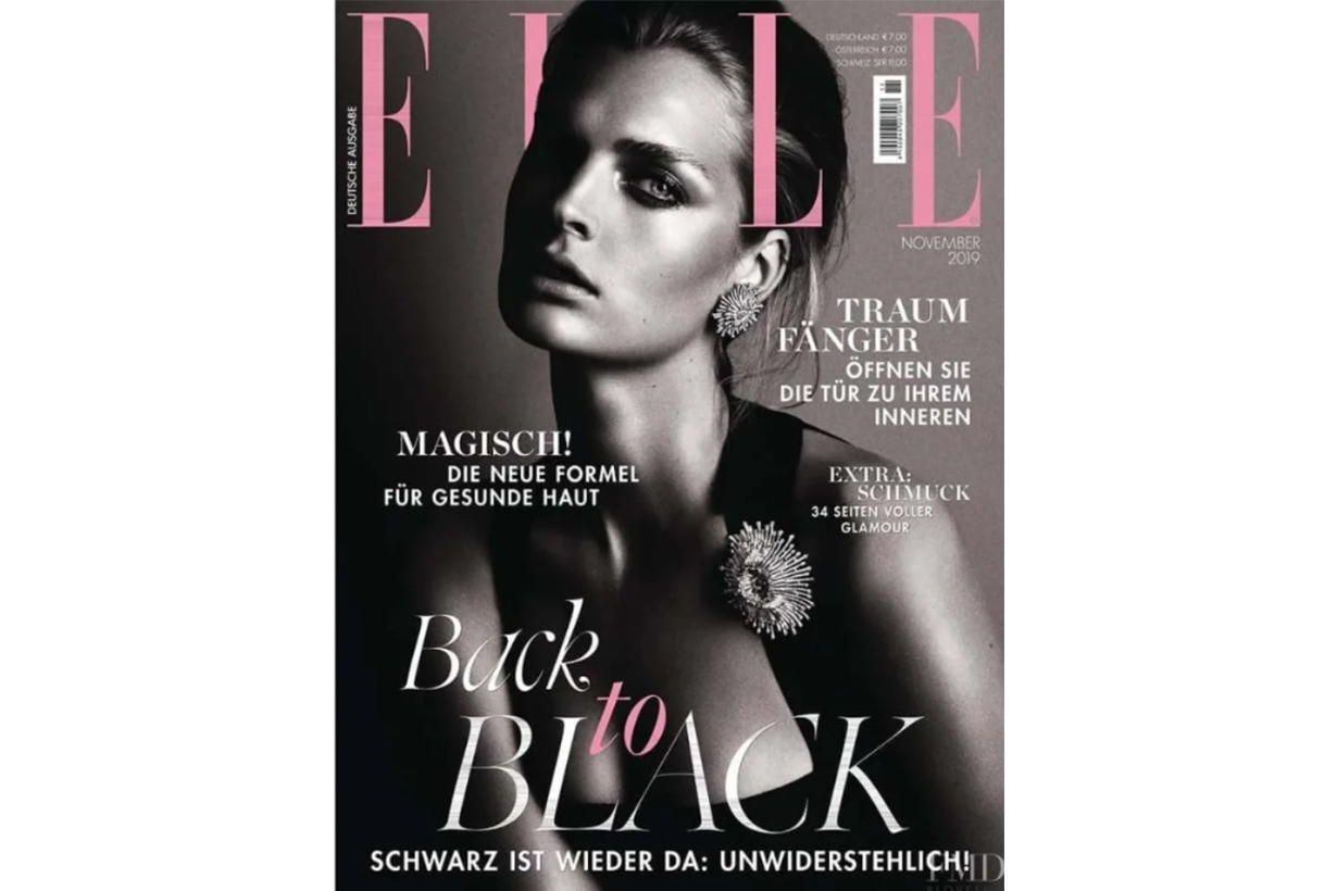 ELLE Germany November Cover White Model
