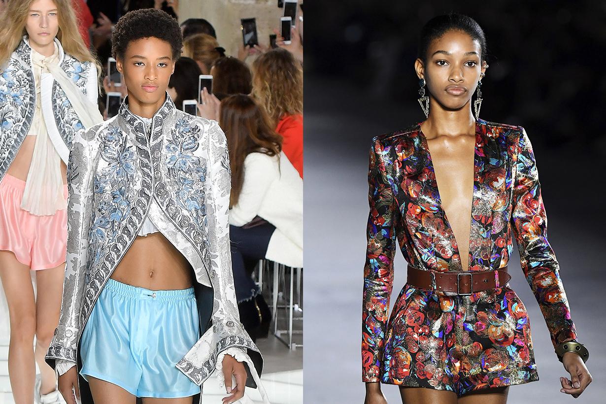 Black Models Janaye Furman and Naomi Chin Wing
