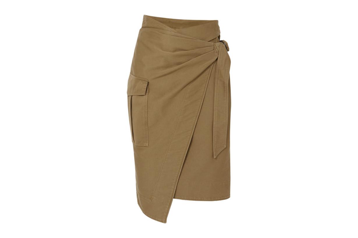 Giulia Cotton-Twill Wrap Skirt