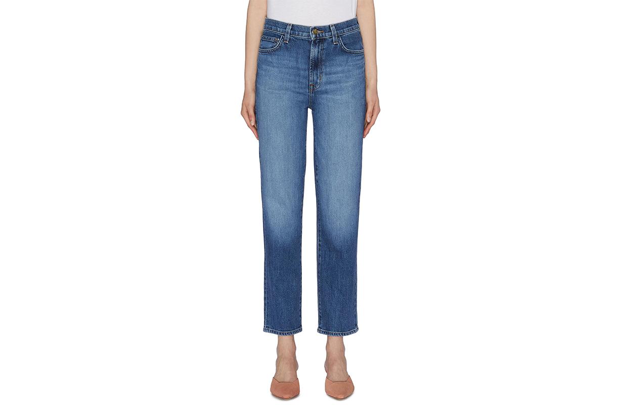 J Brand Jules Cropped Straight Leg Jeans