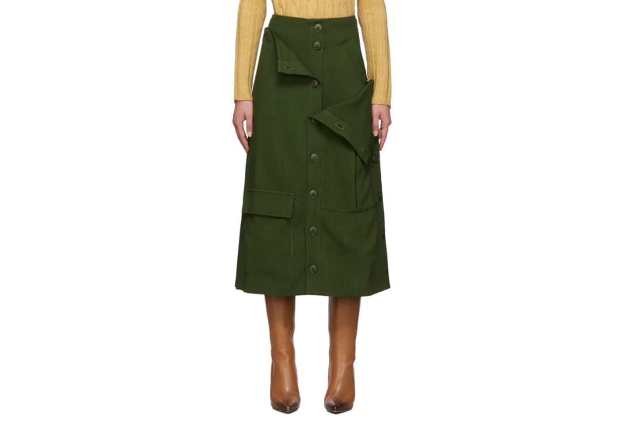 Jacquemus Green 'La Jupe Monceau' Skirt