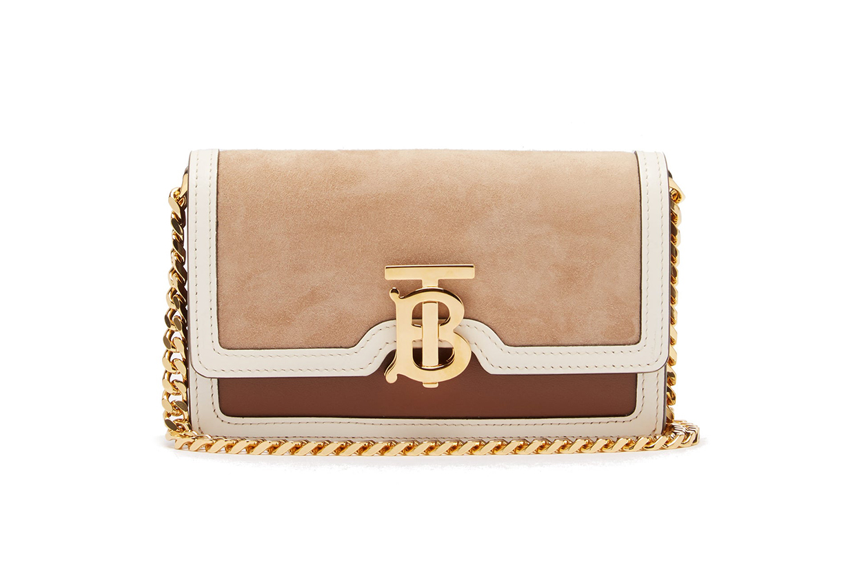 Jessie TB Mini Leather Cross-Body Bag