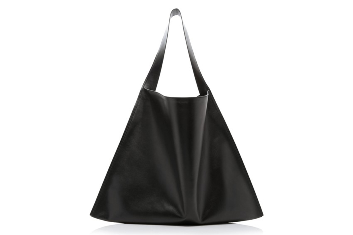 Jil Sander Border Oversized Leather Shoulder Bag