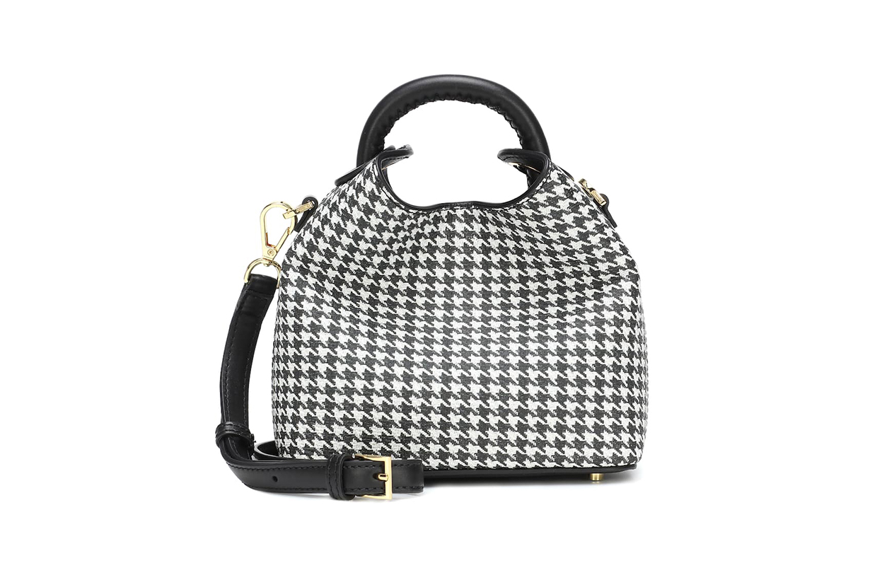 Madeleine Houndstooth Shoulder Bag