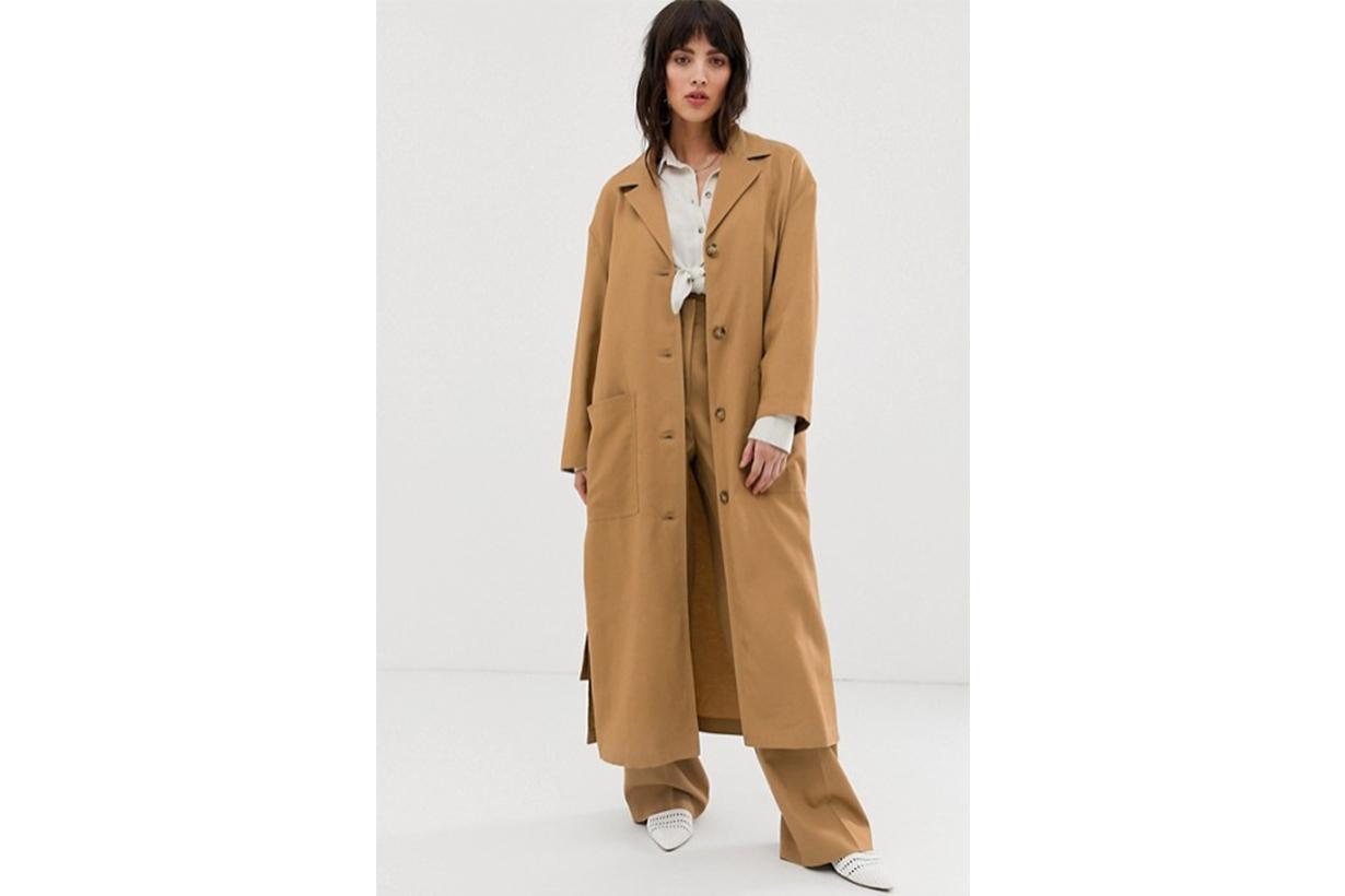 Mango Trench Coat in Brown