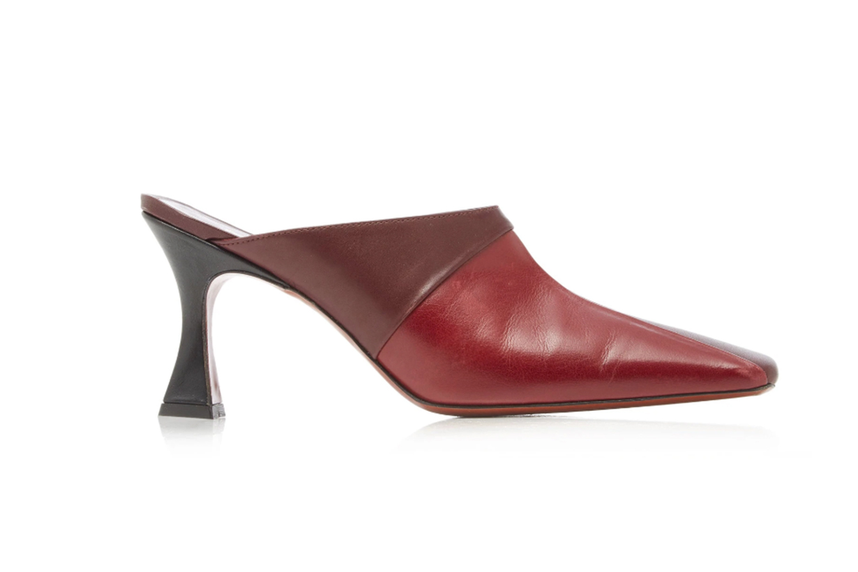 Manu Atelier Two-Tone Leather Mules