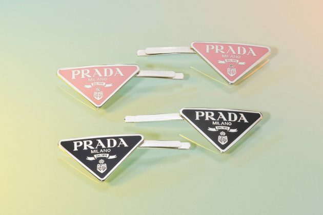 prada accessory hair pin clip airpods case tokyo pop up