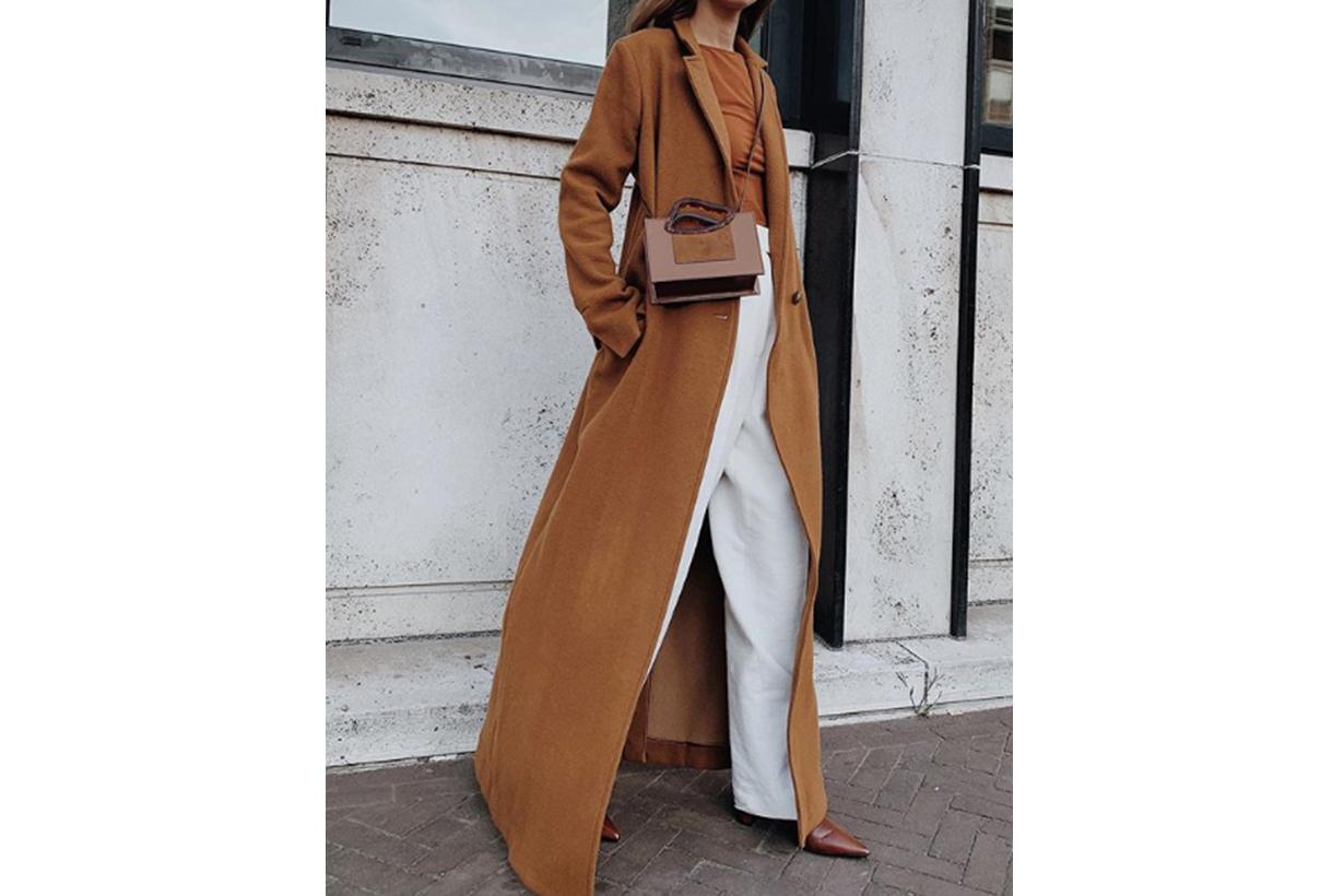 Maxi Camel Coat Street Style