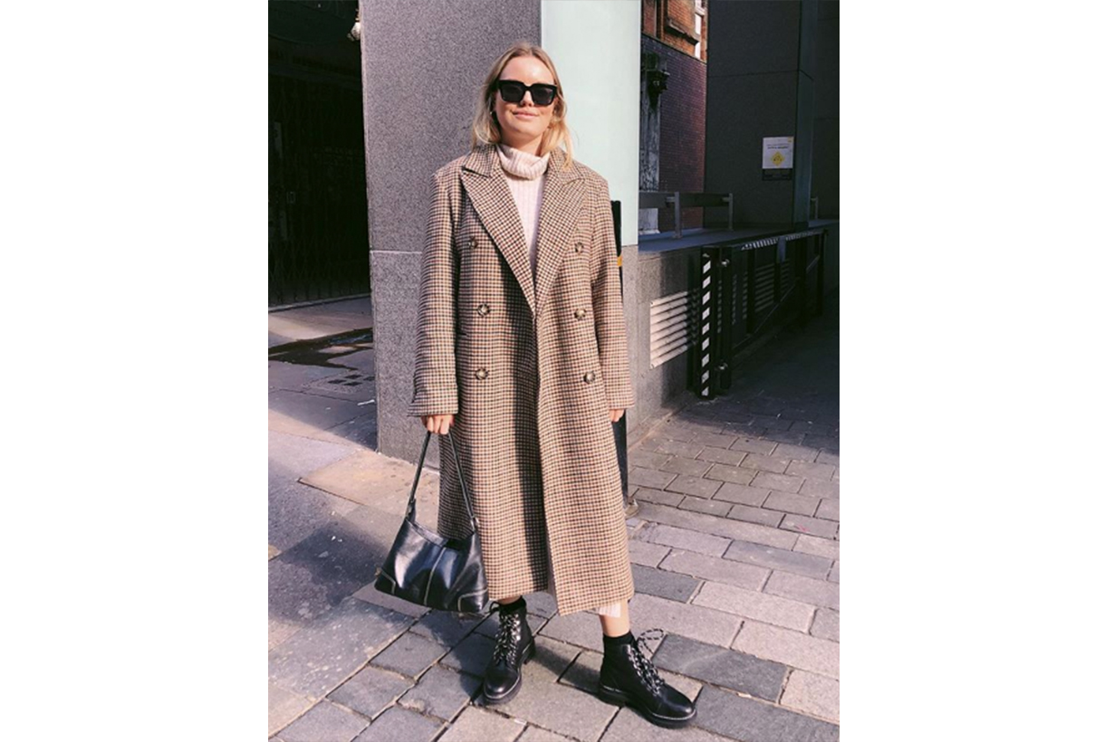 Oversized Checked Coat Street Style