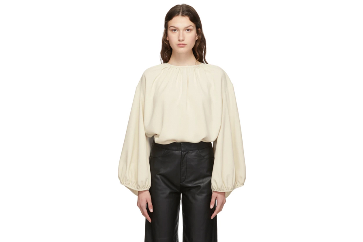 Totême Off-White Pomerance Blouse
