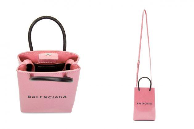 balenciaga pink glitter shopping tote new color ville bag