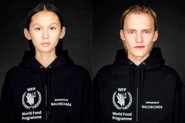balenciaga world food programme collabration donation stop hunger