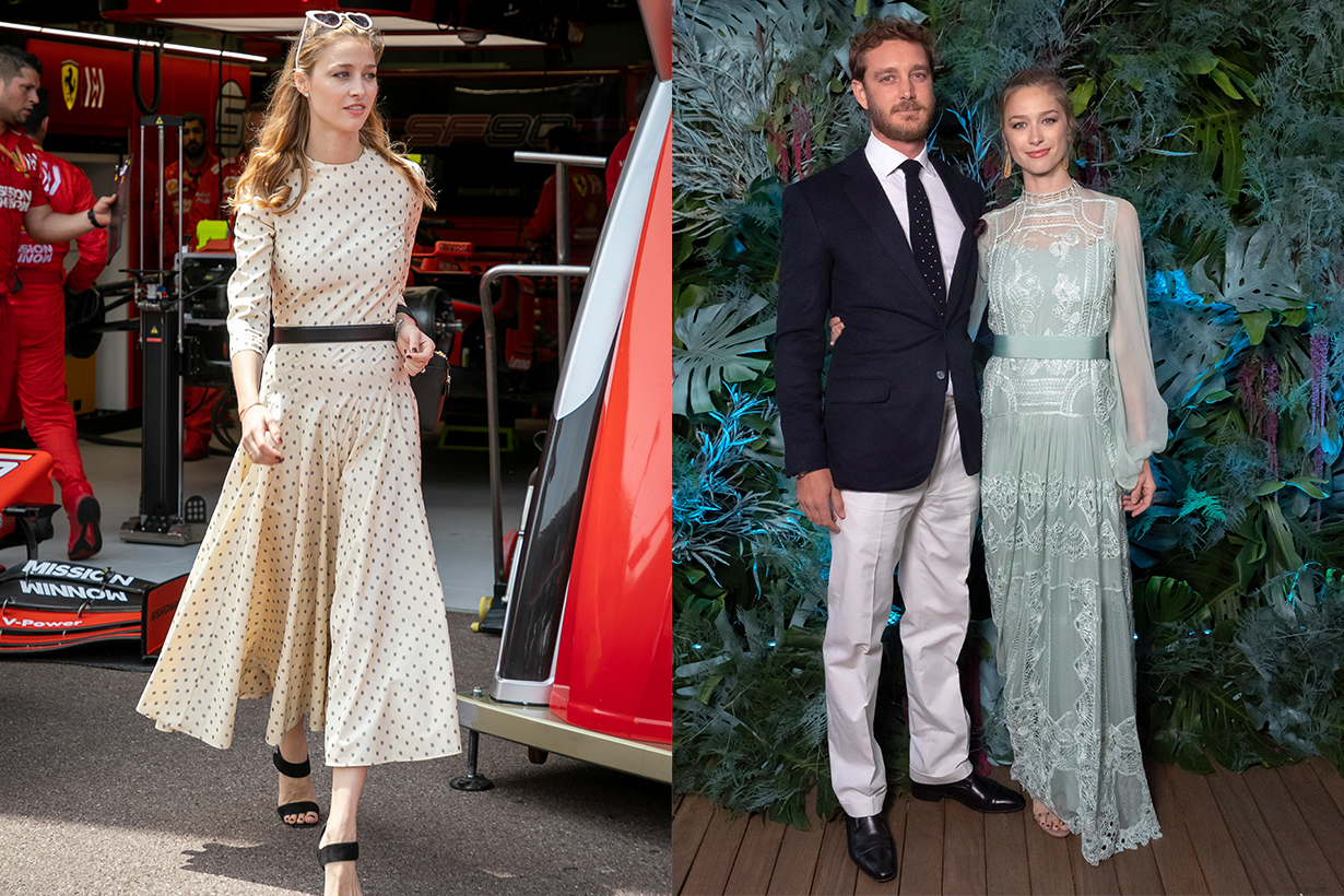 Beatrice Borromeo Monaco Prince Pierre Casiraghi Dior Cape Kate Middleton Grace Kelly Europe Royal Family