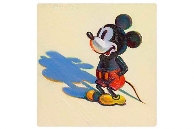 disney micky mouse auction Christie's diane Wayne Thiebaud