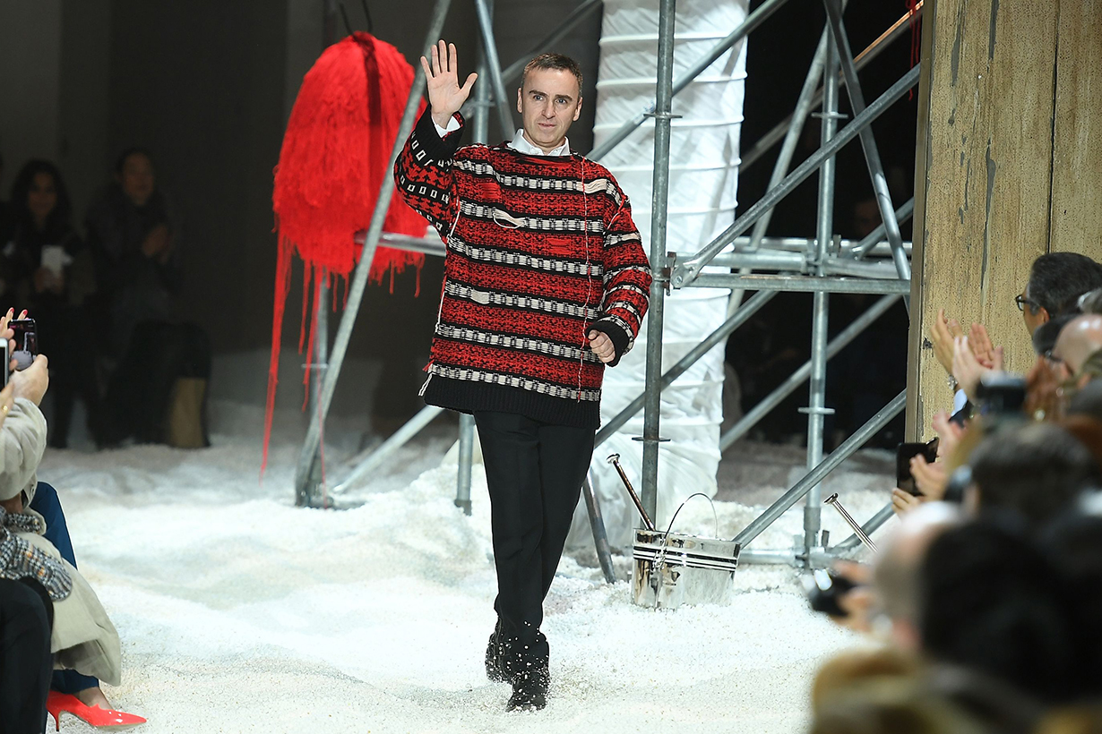 Raf Simons Talks of Fashion in First Appearance Since Calvin Klein Departure