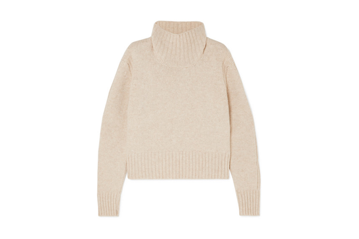 &Daughter Fintra Cropped Wool Turtleneck Sweater