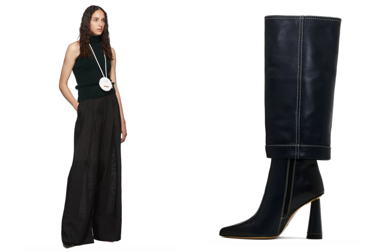 Jacquemus Green 'Les Bottes Pantalon' Boots