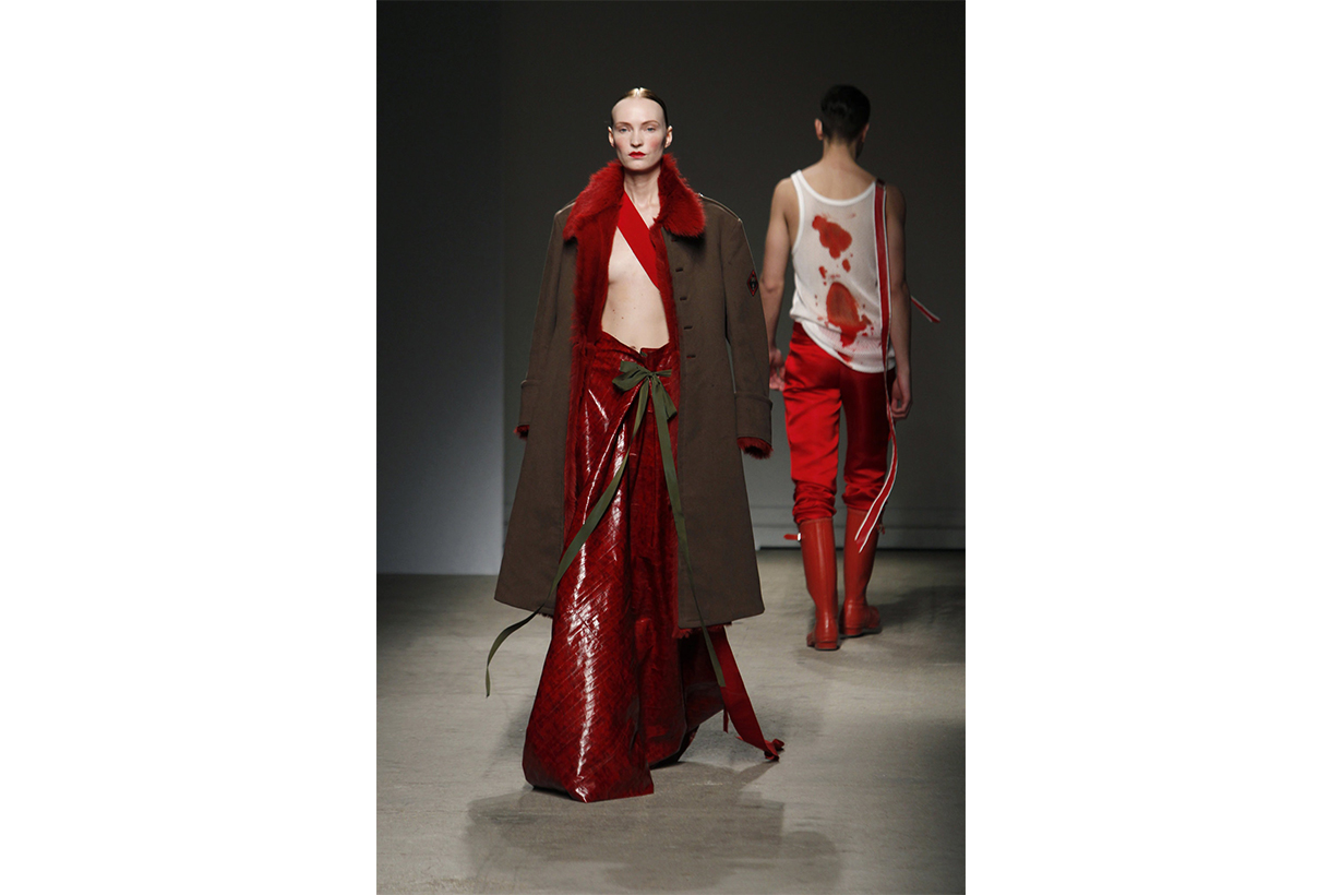 "Looks from the ""Blood and Opulence"" couture collection of 2010."