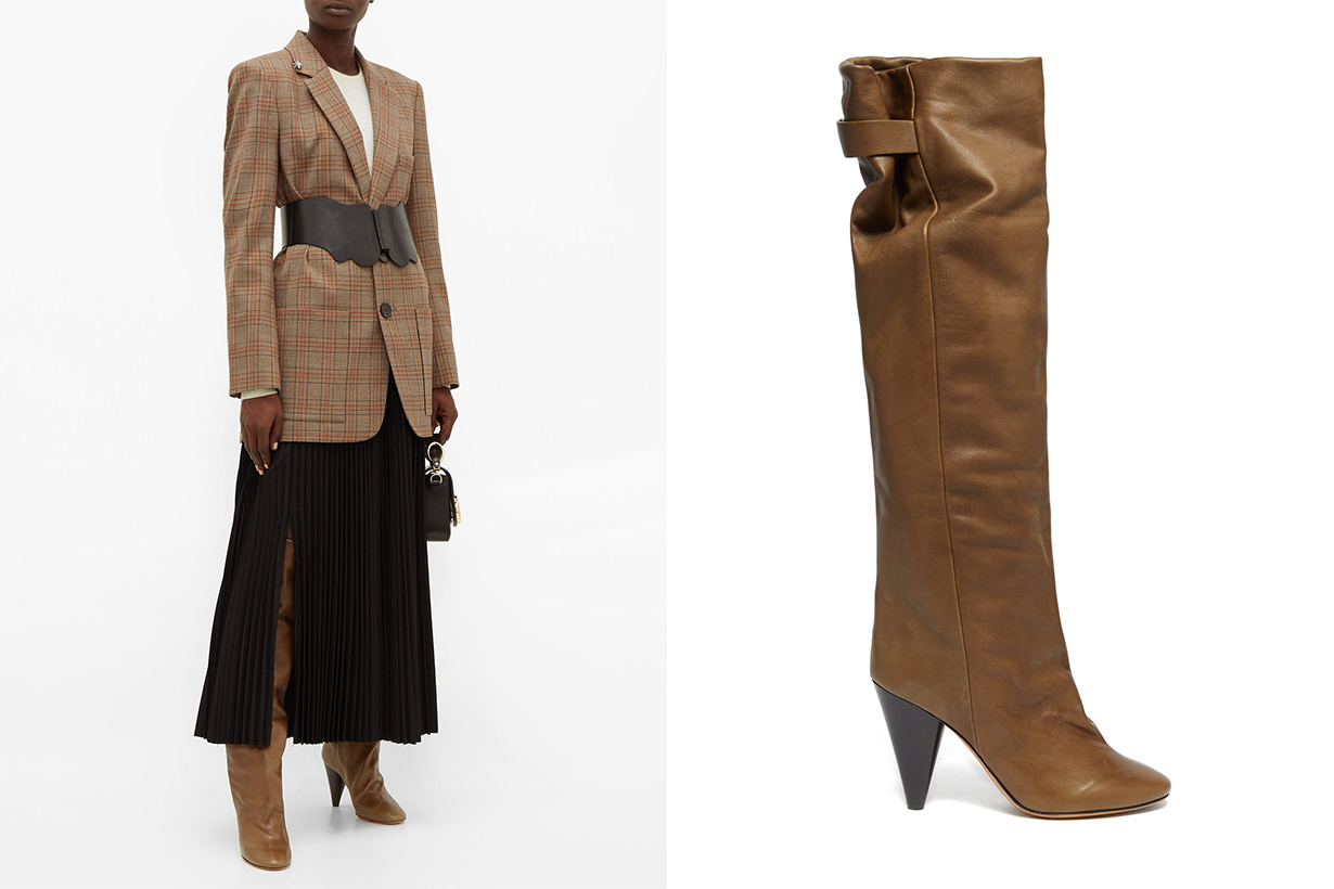 Lacine Over-the-knee Leather Boots
