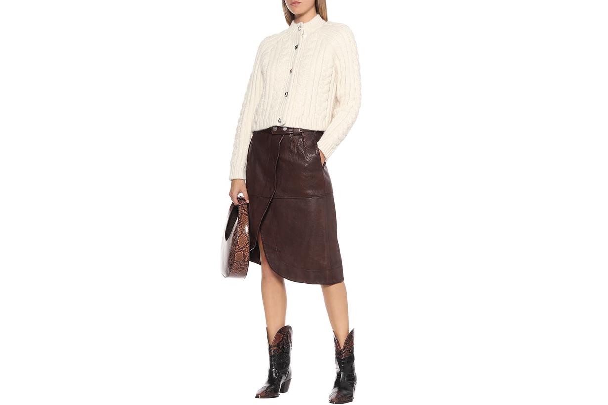 Leather Midi Skirt
