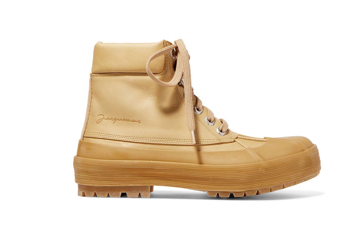 Les Meuniers Hautes Rubber-trimmed Leather Ankle Boots